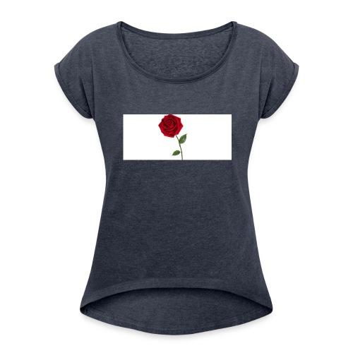 Rose - Women's Roll Cuff T-Shirt