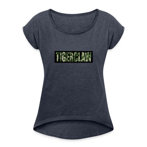 TigerClawCamo - Women's Roll Cuff T-Shirt