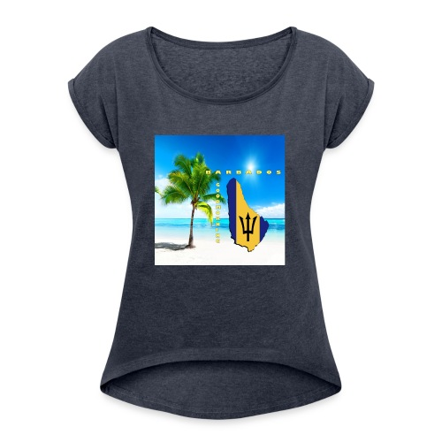 Barbados Good Morning - Women's Roll Cuff T-Shirt