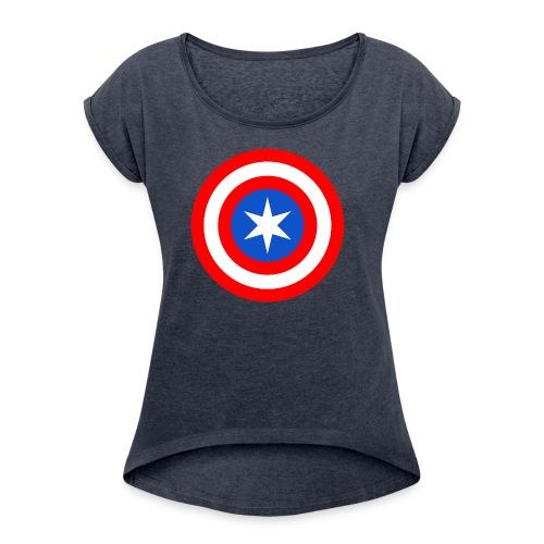 Captain Chicago - Women's Roll Cuff T-Shirt