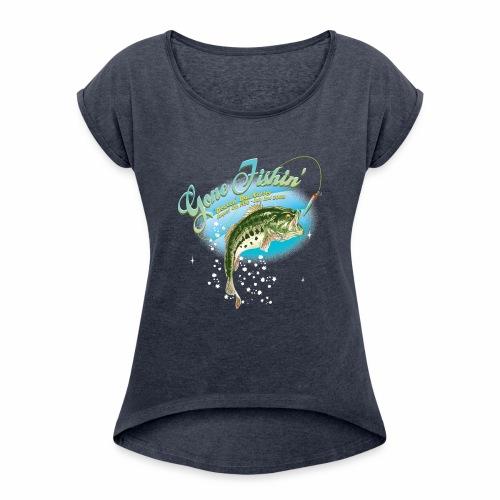 fishing base revise - Women's Roll Cuff T-Shirt