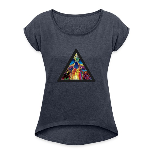 collapse - Women's Roll Cuff T-Shirt