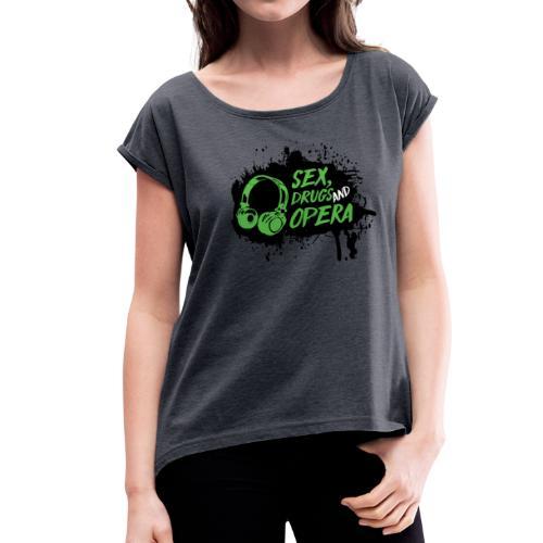 SDAO Alternative Logo - Women's Roll Cuff T-Shirt