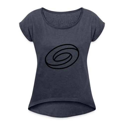 Orbetos Logo - Women's Roll Cuff T-Shirt
