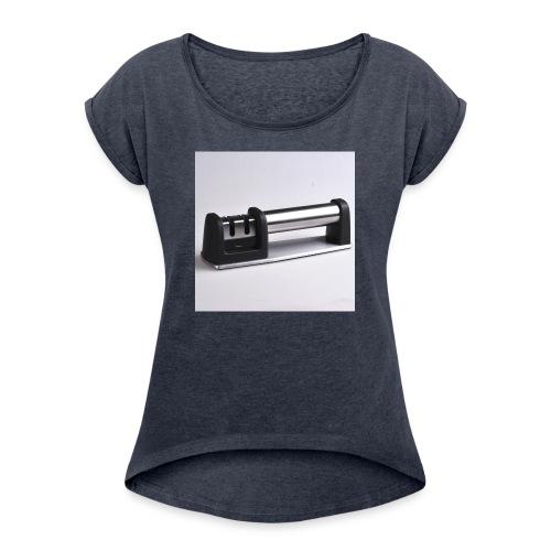 s l1600 1 - Women's Roll Cuff T-Shirt