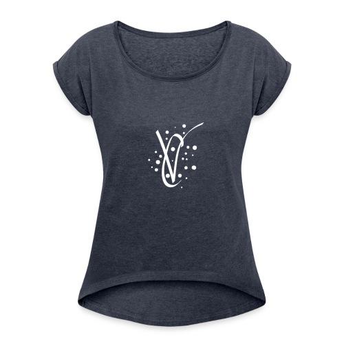 Crisp vlogs - Women's Roll Cuff T-Shirt