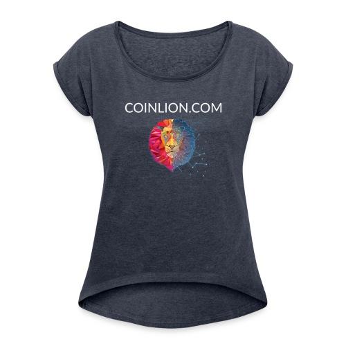 Lion's Head - Women's Roll Cuff T-Shirt