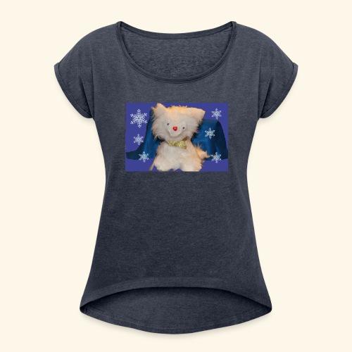 snow flakes - Women's Roll Cuff T-Shirt