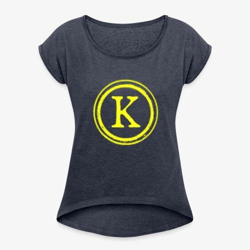 1000x1000 yellow logo - Women's Roll Cuff T-Shirt