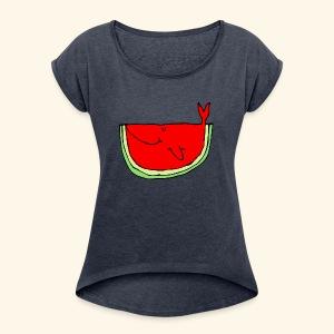 Whalemelon - Women's Roll Cuff T-Shirt