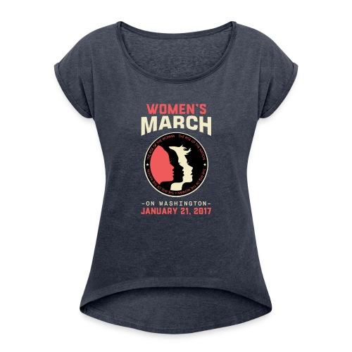 Women's March Washington - Women's Roll Cuff T-Shirt