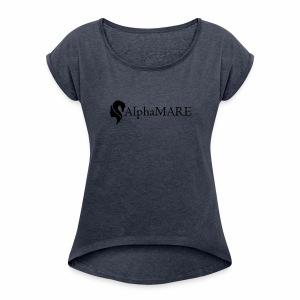 alphaMARE emblem left - Women's Roll Cuff T-Shirt