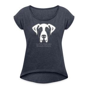 Fan Club - T-shirt Femme à manches retournées