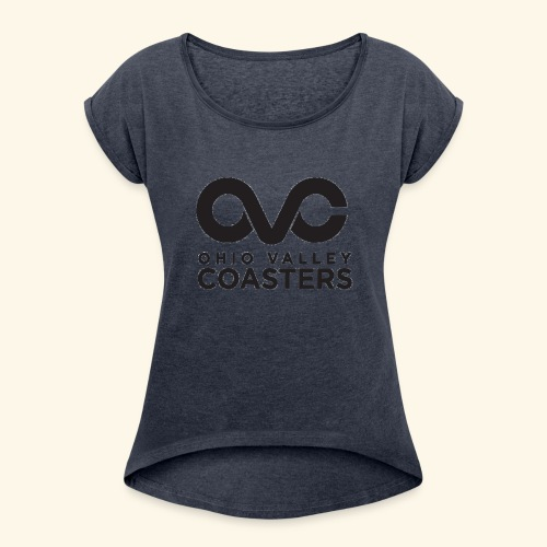 OVC Basic Logo - Women's Roll Cuff T-Shirt