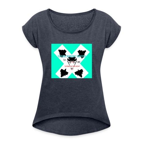 Viper head - Women's Roll Cuff T-Shirt
