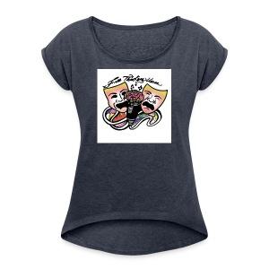 Free Thinkers Union Logo - Women's Roll Cuff T-Shirt