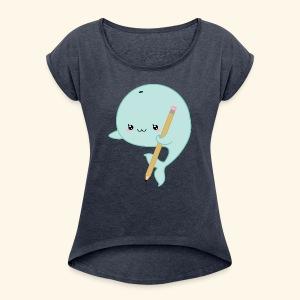 Orca Art - Women's Roll Cuff T-Shirt