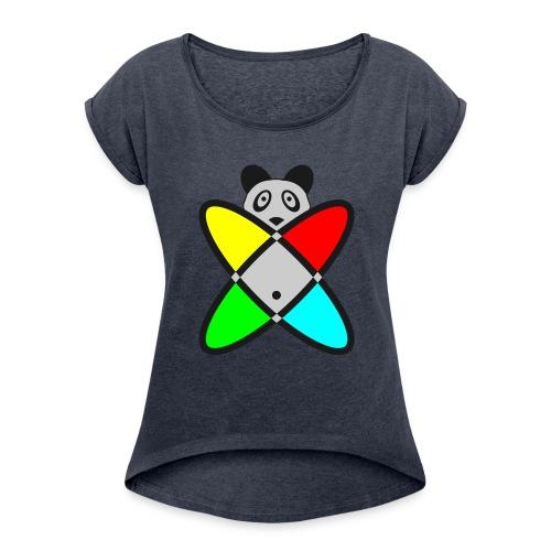 SCIENCE PANDA - Women's Roll Cuff T-Shirt