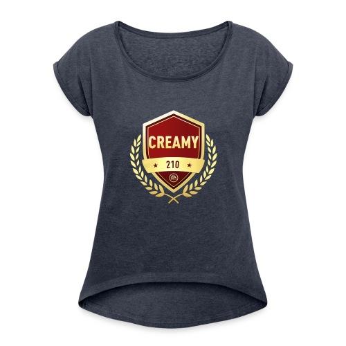 CREAMY210 Original FUT Champions Logo - Women's Roll Cuff T-Shirt