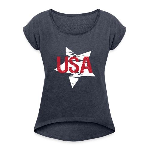 USA! - A stylish 4th July collection - Women's Roll Cuff T-Shirt