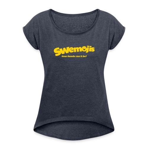 Swemojis logo - Women's Roll Cuff T-Shirt