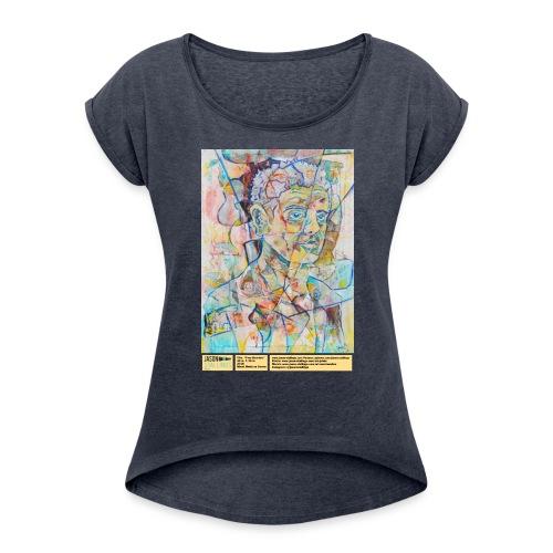 Tony Bourdain - Women's Roll Cuff T-Shirt