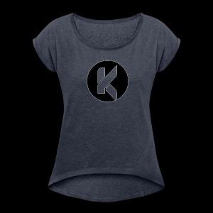 Koptivate Logo (Circle) - Women's Roll Cuff T-Shirt