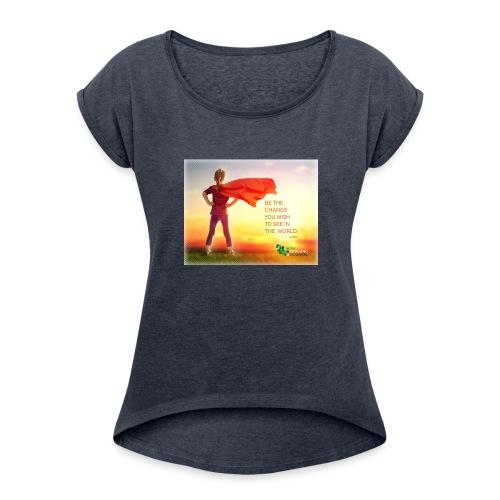 Education Superhero - Women's Roll Cuff T-Shirt
