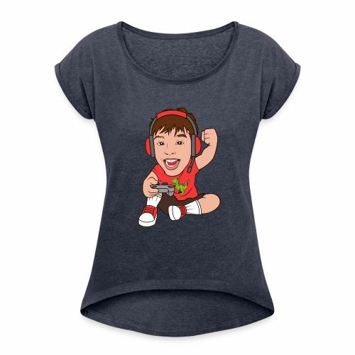 DMJ Gamer - Women's Roll Cuff T-Shirt