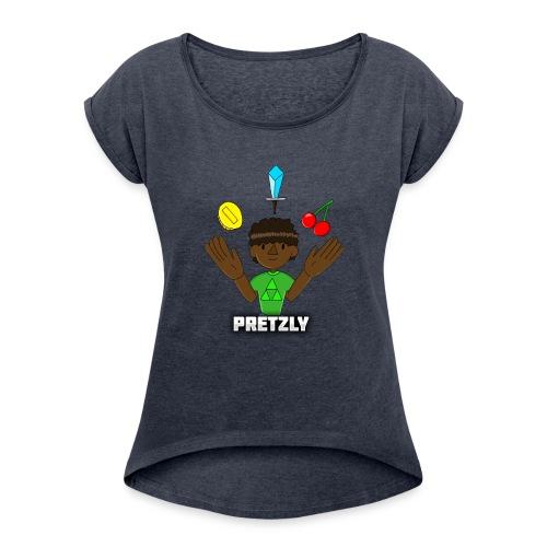 Pretzly Design - Women's Roll Cuff T-Shirt