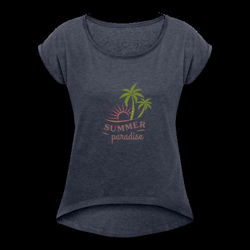 design-10 - Women's Roll Cuff T-Shirt