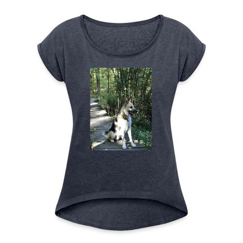 1BDE5C2F 64CF 4DCE B12A 862ED763B62E - Women's Roll Cuff T-Shirt