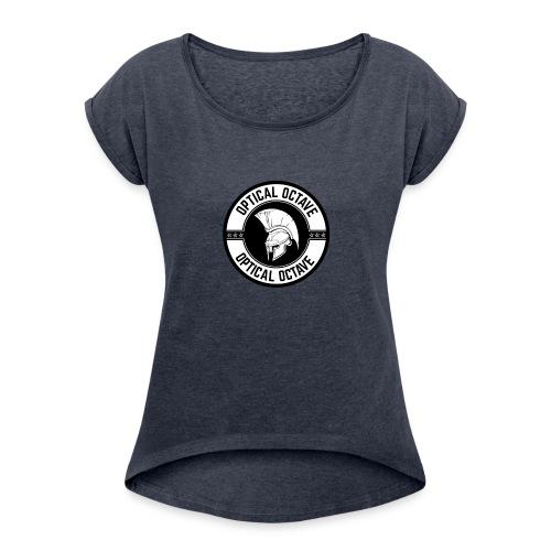Optical Octave Logo - Women's Roll Cuff T-Shirt