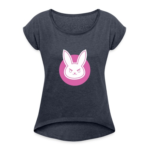 pink rabbit - Women's Roll Cuff T-Shirt