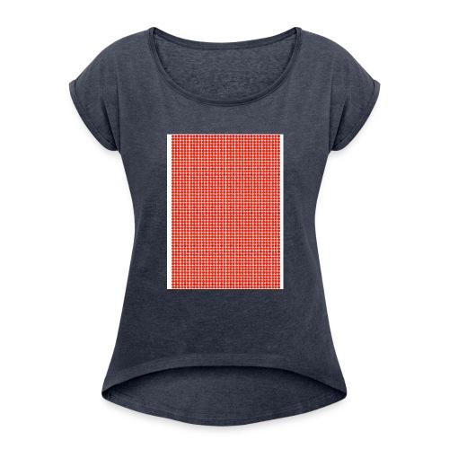 dots - Women's Roll Cuff T-Shirt