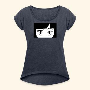 ma3k square DIJAN - Women's Roll Cuff T-Shirt