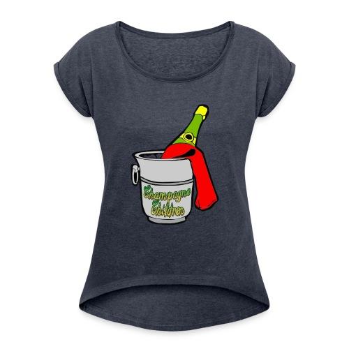 Champagne Children - Women's Roll Cuff T-Shirt