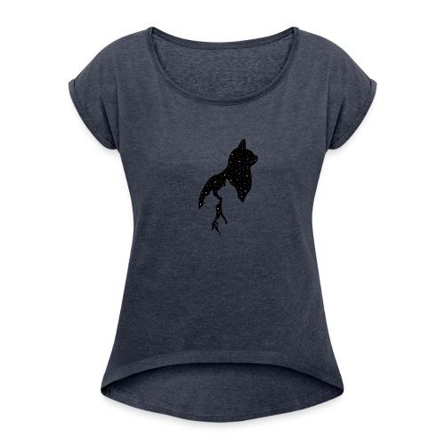 cats night - Women's Roll Cuff T-Shirt