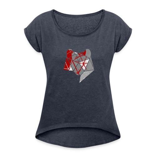 Abstract Wolf - Women's Roll Cuff T-Shirt