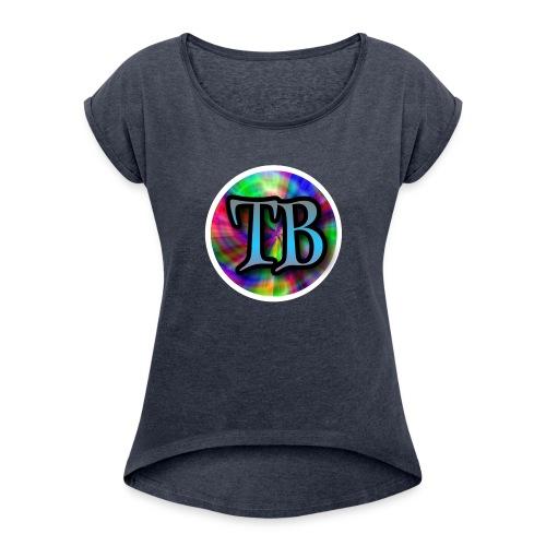 Tricky Bois Logo - Women's Roll Cuff T-Shirt