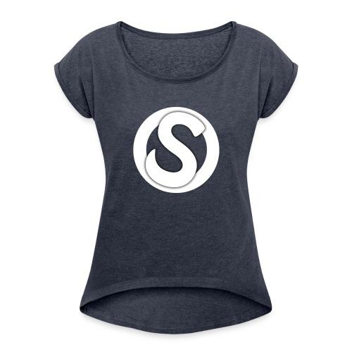 Scopez YouTube Logo - Women's Roll Cuff T-Shirt