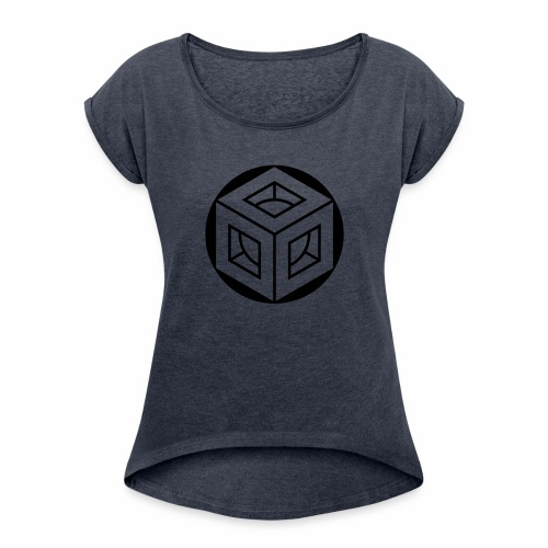 crop circles 51 - Women's Roll Cuff T-Shirt