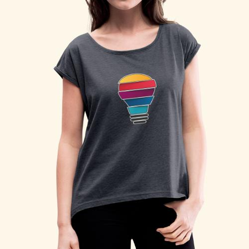 Creativity does not end - Women's Roll Cuff T-Shirt