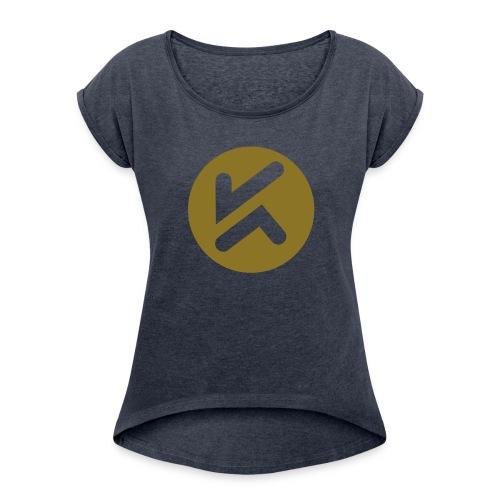 KCJ Media Tee - Women's Roll Cuff T-Shirt