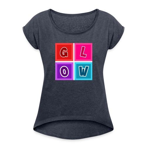 Glow Blocks - Women's Roll Cuff T-Shirt