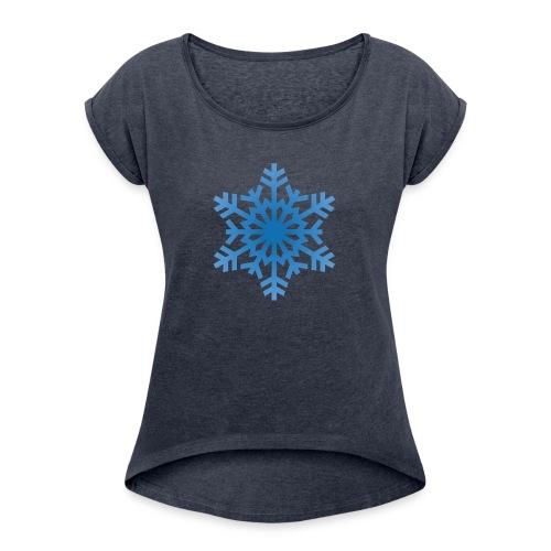 http-images-clipartpanda-com-snowflake-clipart-tra - Women's Roll Cuff T-Shirt