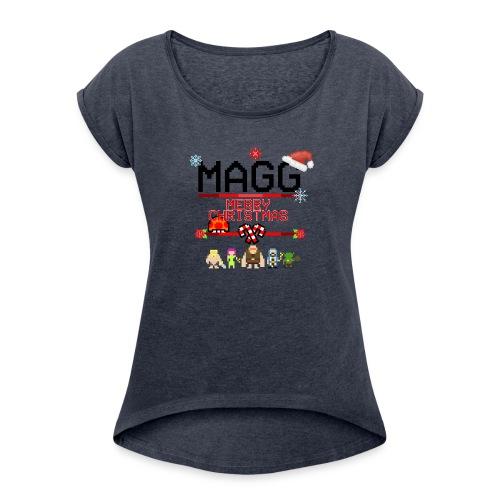dise--o_kmisa - Women's Roll Cuff T-Shirt