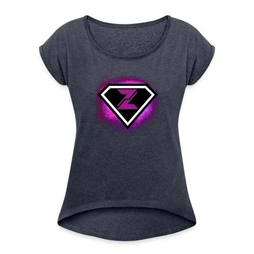 Zyanite Logo - YouTube - Women's Roll Cuff T-Shirt
