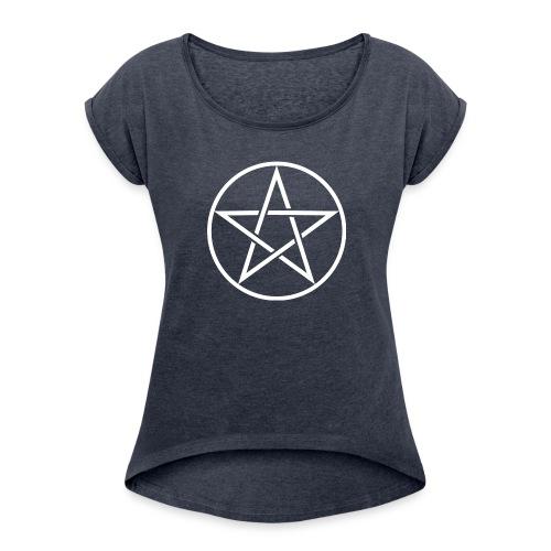 Pentagram Shirts - Women's Roll Cuff T-Shirt