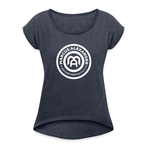 Marcus Alexander Official Logo - Women's Roll Cuff T-Shirt